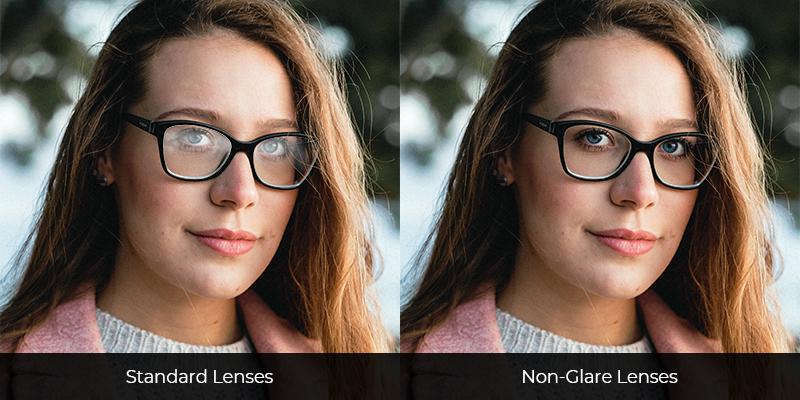 Standard Lenses vs Non-Glare Lenses