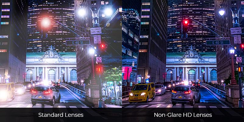 Standard Lenses vs Non-Glare HD Lenses